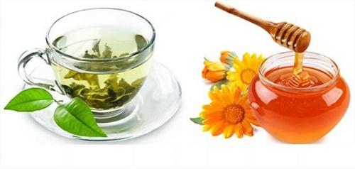 Giảm cân bằng trà xanh và mật ong