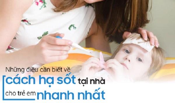 Cách hạ sốt an toàn cho trẻ